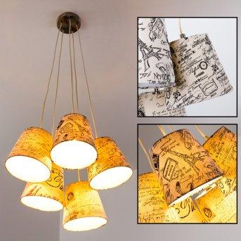 RANKIN Pendant Light matt nickel, 5-light sources
