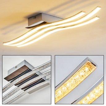 TOLVA Ceiling light LED chrome, 1-light source