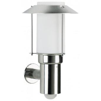 Albert 238 outdoor wall light stainless steel, 1-light source, Motion sensor