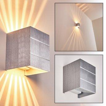 Erik wall light aluminium, 1-light source