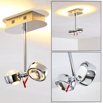 Florenz ceiling light LED chrome, 2-light sources