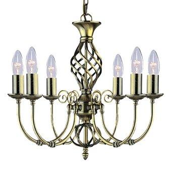 Chandelier Searchlight ZANZIBAR brass, 6-light sources
