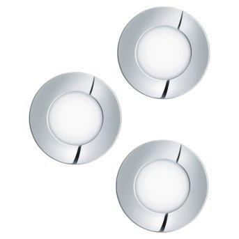 Eglo FUEVA recessed light LED chrome, 3-light sources