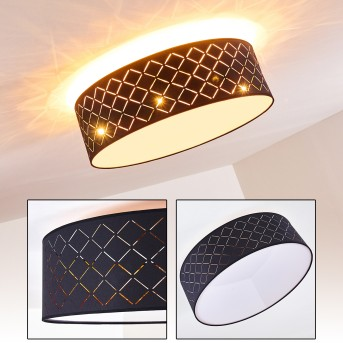 TIBURE Ceiling light matt nickel, 6-light sources
