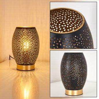 Table Lamp Saksborg black-gold, 1-light source