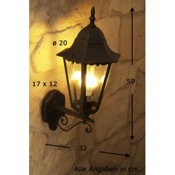Massive Zagreb outdoor wall light rust-coloured, brown, 1-light source