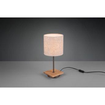 Trio ELMAU Table lamp matt nickel, dark brown, 1-light source