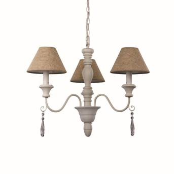 Ideal Lux PROVENCE Chandelier white, 3-light sources