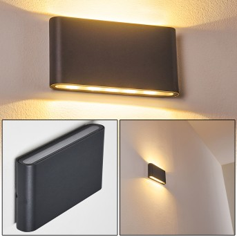 Outdoor Wall Light Tinglev LED anthracite, 2-light sources