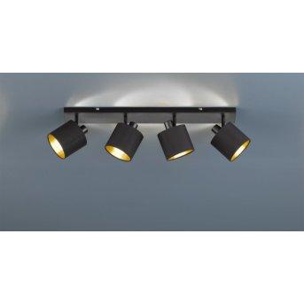 Reality TOMMY spotlight black, 4-light sources