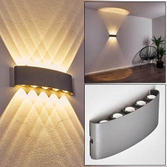 Abaiang Outdoor Wall Light LED silver, 10-light sources