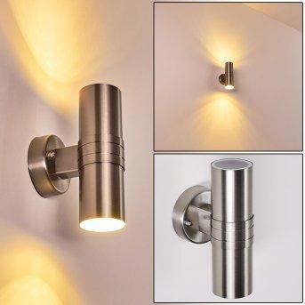 Satava Outdoor Wall Light LED chrome, 1-light source