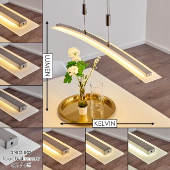 Delaware Pendant Light LED silver, 1-light source