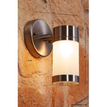 Konstsmide wall light stainless steel, 1-light source