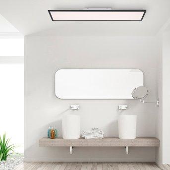 Leuchten-Direkt FLAT Ceiling Light LED black, 1-light source, Remote control