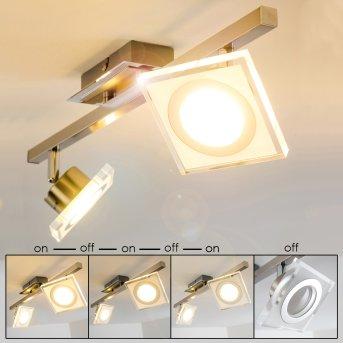 Kolari Ceiling Light LED matt nickel, chrome, 2-light sources