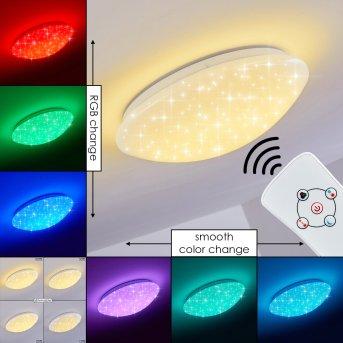 Brighton STAR Ceiling light LED white, 1-light source, Remote control, Colour changer