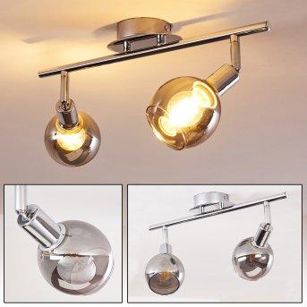 STRANDEROD Ceiling Light chrome, 2-light sources