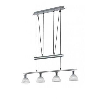 Trio LEVISTO hanging light LED matt nickel, 4-light sources