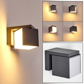 Swanek Outdoor Wall Light LED anthracite, 1-light source