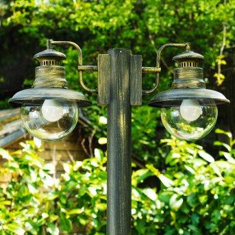 Brilliant Artu outdoor floor lamp black, gold, 2-light sources