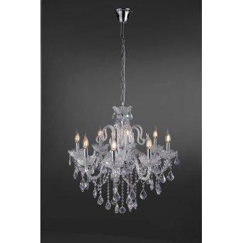 Paul Neuhaus GRACIA pendant light transparent, clear, 8-light sources