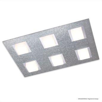 Grossmann BASIC Ceiling light LED aluminium, 6-light sources