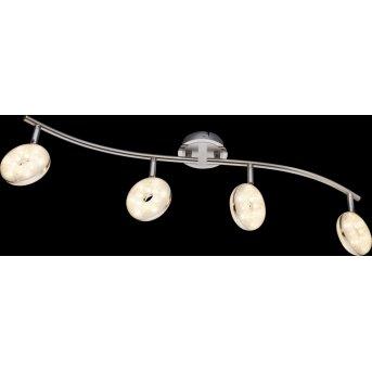 Globo LAILA ceiling light LED matt nickel, 4-light sources