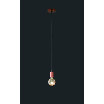 Trio-Leuchten Cord Pendant Light copper, 1-light source
