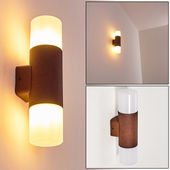 Buhrkall Outdoor Wall Light rust-coloured, 2-light sources