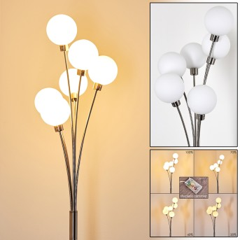BERNADO Floor Lamp matt nickel, 6-light sources