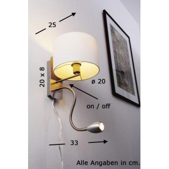 Trio 2711 wall light LED matt nickel, chrome, 2-light sources