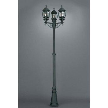 Massive myGarden DUBROVNIK lamppost black, green , 3-light sources