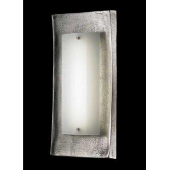 Fischer Shine Alu wall light LED matt nickel, rust-coloured, 1-light source