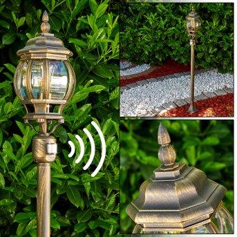 Lentua outdoor Floor Lamp brown, gold, 1-light source, Motion sensor