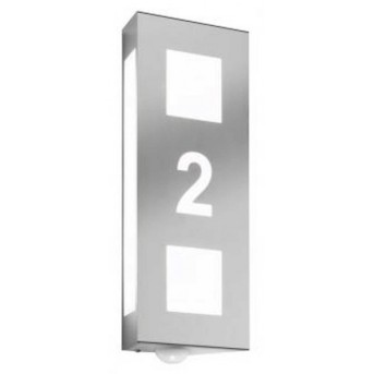 CMD AQUA TRILO Wall Light stainless steel, 2-light sources, Motion sensor