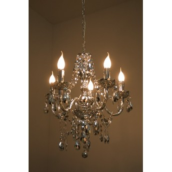 Reality chandelier transparent, clear, 5-light sources