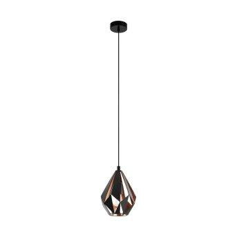 Eglo CARLTON Pendant Light black, copper, 1-light source