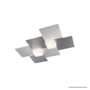 Grossmann CREO Wall and Ceiling light LED aluminium, 2-light sources