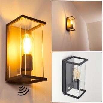 FAROER Outdoor Wall Light black, 1-light source, Motion sensor