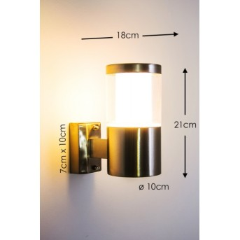 Leon exterior wall luminaire LED stainless steel, 1-light source