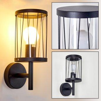 TORSA outdoor wall light black, 1-light source