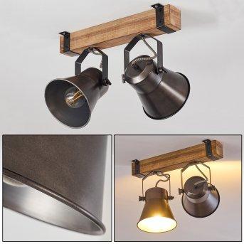 OKSBOL Ceiling Light Light wood, 2-light sources