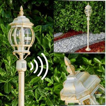 Lentua outdoor Floor Lamp white, gold, 1-light source, Motion sensor