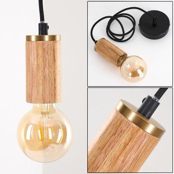Borex Pendant Light Light wood, black-gold, 1-light source