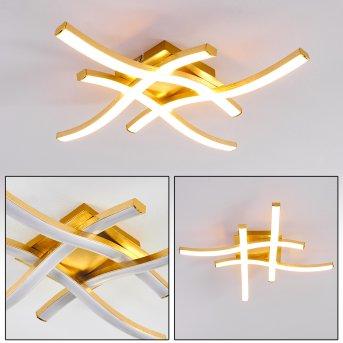 GROSSARL Ceiling Light LED gold, 4-light sources