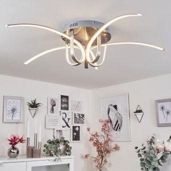 Casale LED ceiling light chrome, 1-light source