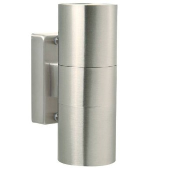 Nordlux TIN Outdoor Wall Light stainless steel, 2-light sources
