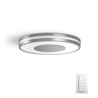 Philips HUE AMBIANCE WHITE BEING Ceiling Light LED silver, 1-light source, Remote control