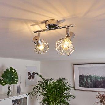Globo Xara ceiling spotlight chrome, 2-light sources